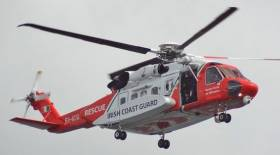 Coast Guard Helicopter in Long Range Evacuation