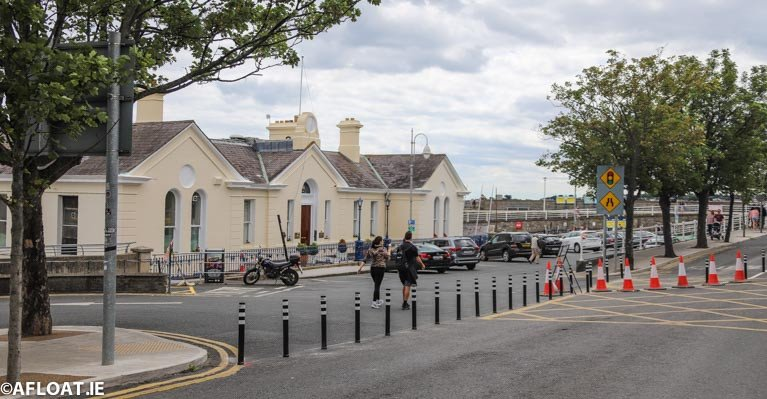 A new traffic system at Dun Laoghaire cuts off the primary access route to the base of the East Pier where the National Yacht Club (pictured) and Dun Laoghaire RNLI lifeboat are located