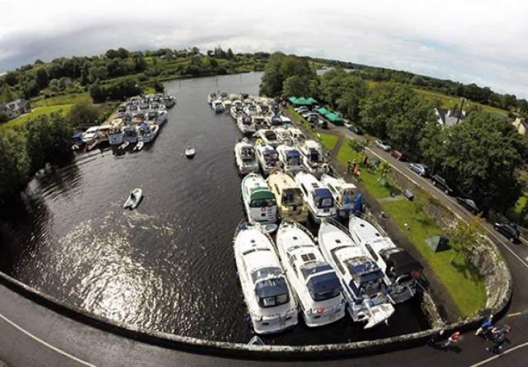 The 56th Shannon Boat Rally visiting Athlone in 2016