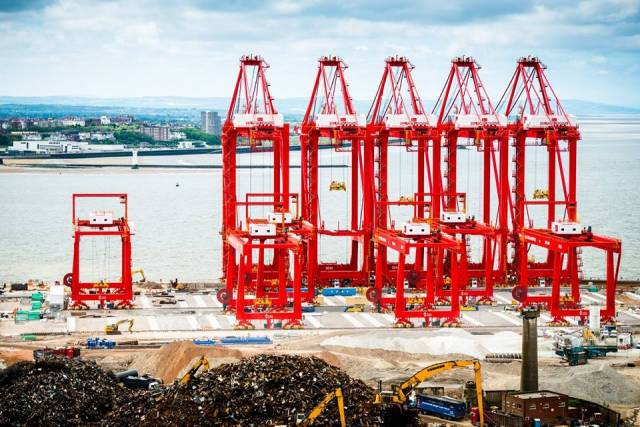The UK's new Transport Minister recently visited Peel Port's new £400m Liverpool2 terminal. The giant rail-mounted container gantry cranes arrived in May by ship from China