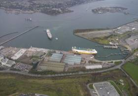 Port of Cork's ferry terminal in Ringaskiddy