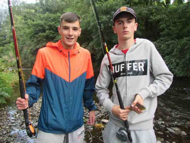 Nicky O'Hagan and Matthew McDonald of Whitechurch Youth Group