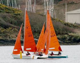 Tight racing for Squibs in the final of the Kinsale Yacht Club frostbites