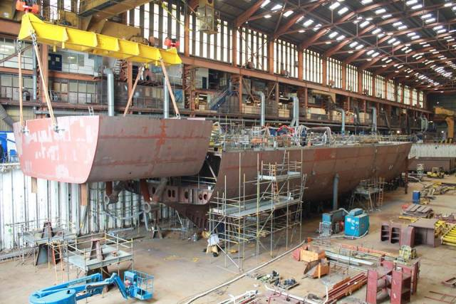 The historic UK shipyard at Appledore could reopen as early as December if a deal is secured at talks, say sources. AFLOAT adds the last vessel to be built at the north Devon shipyard was the OPV LÉ George Bernard Shaw, the fourth and final of the OPV90/P60 Class, which in April this year was commissioned by the Irish Naval Service.
