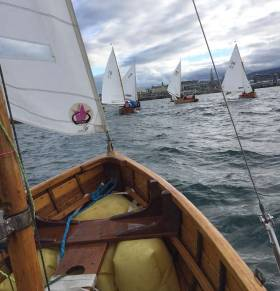 A fine 28-boat fleet competed in the second race of the Water Wag season in Dun Laoghaire