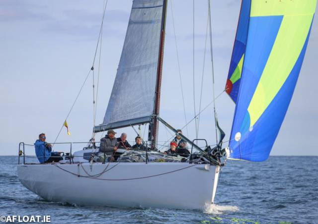 After a 60-mile race across the Irish Sea from Wales, Paul O'Higgins's JPK10.80 Rockabill VI is pictured on her way to overall victory in the closing stages of the 2019 ISORA season last Saturday on Dublin Bay
