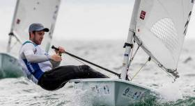 With some consistent sailing in tricky conditions, Finn Lynch now counts four top ten results from nine races sailed so far in Miami