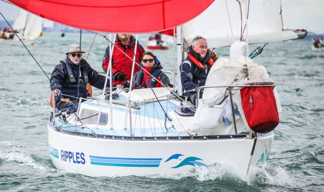 DMYC's Frank Bradley sailing Ripples was third overall at the Ruffian National Championships