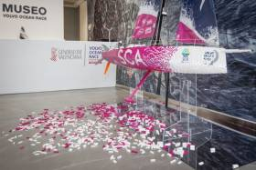 Team SCA's Volvo Ocean Race yacht, rendered in 100,000 pieces of Lego