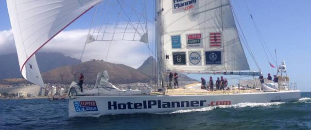 HotelPlanner.com sailing in Table Bay, South Africa