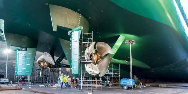 Ulysses returns to service having had new propellers and new rudder components fitted