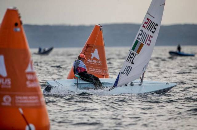 Aoife Hopkins took a Laser Radial World Championships race win today in Aarhus