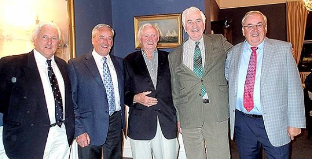 Former ISORA sailors at the National Yacht Club were: Barry O'Donovan (Avanti), Peter Cullen (Eliminator), Liam Shanahan Snr (Lightening), Michael Horgan (Emircedes), Vincent Farrell (Humphrey Go Kart)