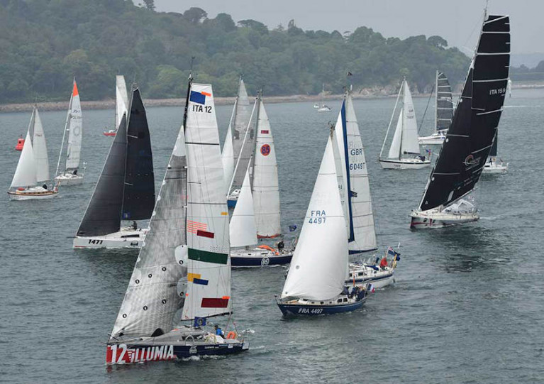 File image of a previous OSTAR race start from Plymouth