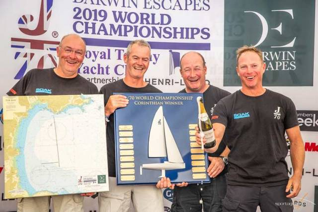 2019 J/70 Corinthian World Champions - Soak Racing (IRL) Marshall King (second from left), Ian Wilson, Andrew Shorrock, Adam Brushett
