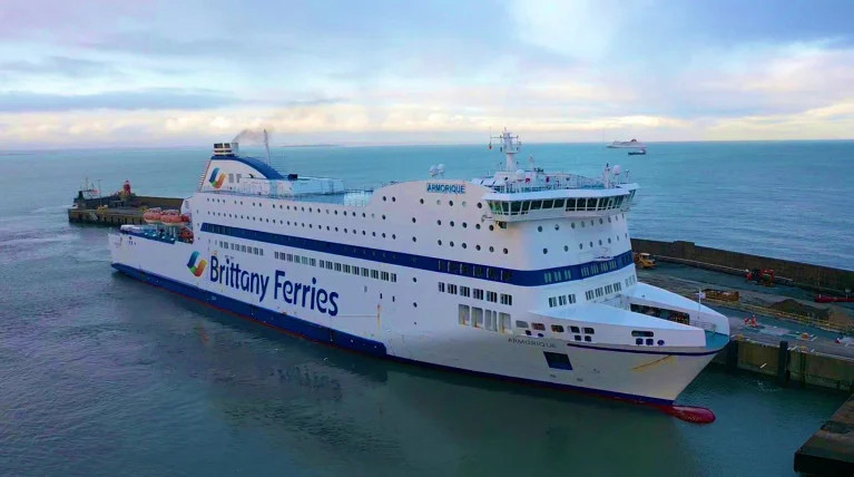 MV Armorique of Brittany Ferries at Rosslare Europort last month
