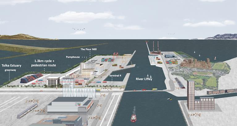 The Liffey to Tolka civic space planned for Dublin Port