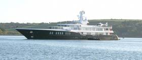 Superyacht Air, a 265–foot Feadship, during her Kinsale visit in June 2015. The yacht also visited Kinsale again in 2016 and is part of a growing fleet of superyachts coming to Irish waters