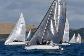 Four races have been sailed at the 1720 Nationals in Kinsale. Scroll down for photo gallery