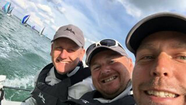 Royal St. George's Michael O'Connor, Davy Taylor and Ed Cook were the SB20 'Corinthian' World Champions and pick up Afloat's Sailor of the Month Award