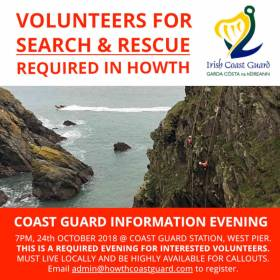 Volunteers Wanted For Howth Coast Guard