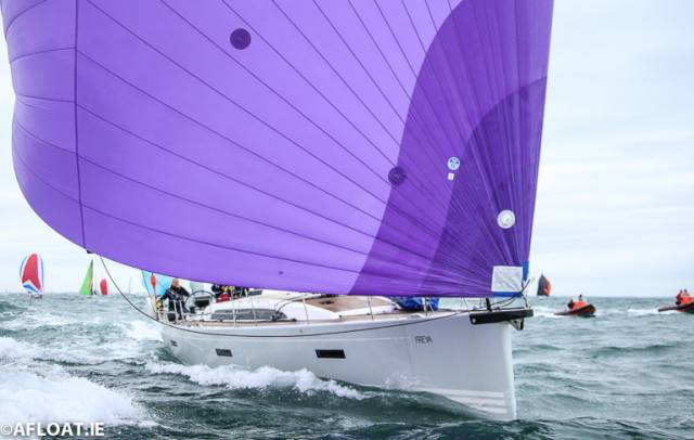 Conor Doyle's handsome Xp 50 Freya from Kinsale (her crew including Olympic campaigner James Espey) was in the limelight as overall leader at one stage