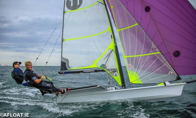 North-South duo Ryan Seaton and Seafra Guilfoyle are one of two Irish teams heading to New Zealand in November for the 49er World Championships