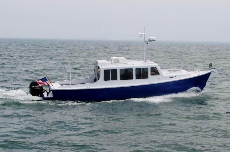 The aluminium-built 33 Eco-Trawler is simplicity carried to its logical conclusion by designer Don O'Keeffe, originally from Schull but long since living and working in Wisconsin