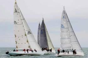 Howth Yacht Club's Class One Start in the first race of the KBC sponsored Autumn League
