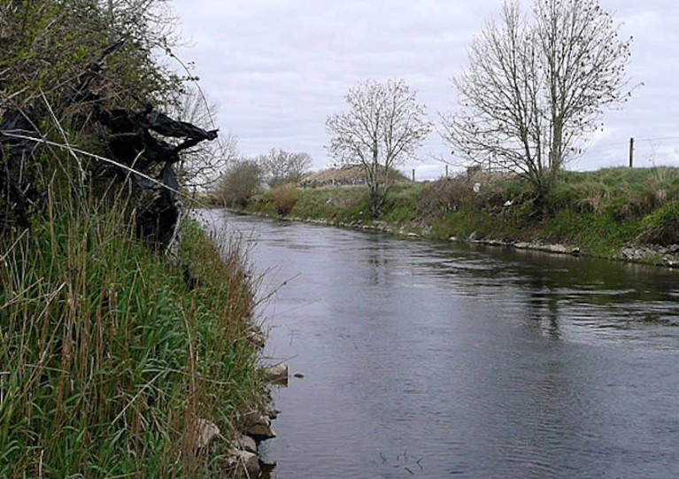 The Clare River east of Lackagh