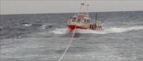 The 36–foot fishing vessel got into difficult just 300 metres off the rocks at Dunworley Point near Seven Heads in West Cork at 2pm today and sought immediate assistance.