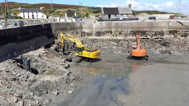 Marina installation works at Cape Clear Harbour are underway