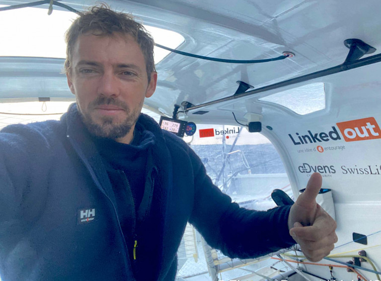 Thomas Ruyant on LinkedOut lies fourth overall, just 79.03 nm from the leader