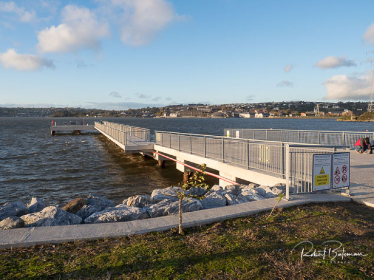 The jetty at the Paddy's Point amenity area has been designed to provide ease of landing as strong tidal currents were a concern. The modelling demonstrated the sheltered nature of the berthing provided by the angle of the structure.