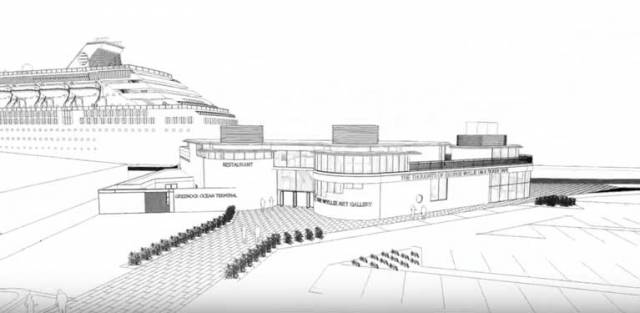The plans, approved this month by Inverclyde planning board, are for a new visitor centre, restaurant and gallery at Greenock Ocean Terminal.
