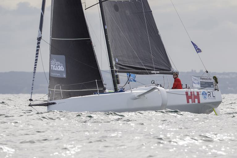 Keeny Rumball from Dun Laoghaire is competing  for the first time  in the La Solitaire Du Figaro