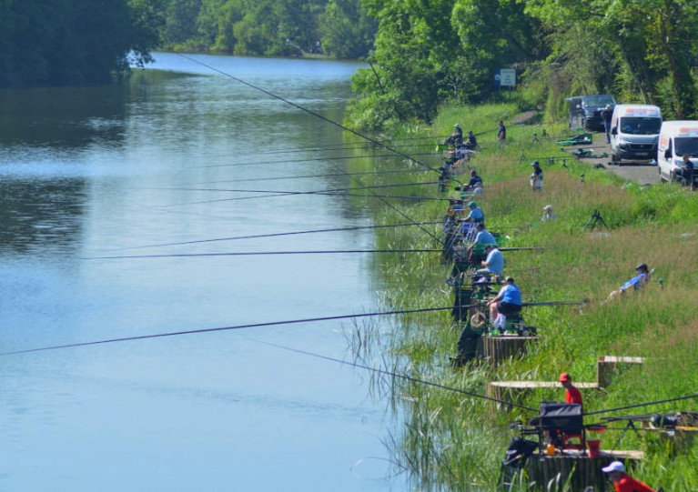 A charity angling match at Loughgall Lake