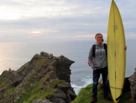 Former surf pro John McCarthy is now a church pastor in Lahinch