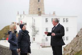 Pictured in a visit to Dublin hosted by The Commissioners of Irish Lights is HRH The Princess Royal with Ms Yvonne Shields O'Connor, Chief Executive, Commissioners of Irish Lights and Captain Robert McCabe, Director of Coastal Operations,Commissioners of Irish Lights at The Baily Lighthouse on Dublin Bay