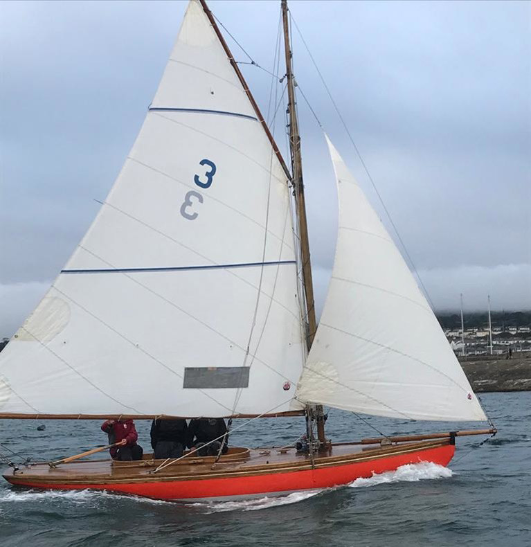 Stepping out – Roddy Cooper's 122-years-old Howth 17 Leila looking her best for her first race of the delayed 2020 season on Tuesday