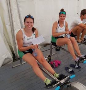 Aileen Crowley and Monika Dukarska, two of Ireland's successful women's rowers.