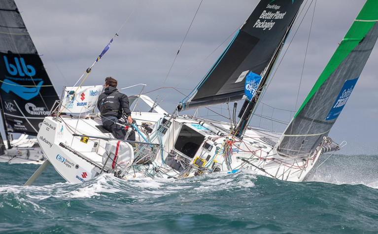 County Meath's Tom Dolan is vying for the lead as the fleet approach the Fastnet Rock