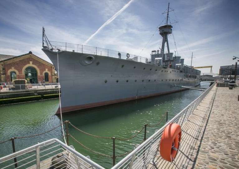 HMS Caroline the veteran vessel visitor attraction based in Belfast Harbour