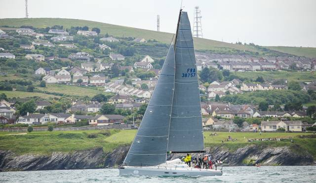 Into the first night of the Volvo Round Ireland Race 2016, and Eric de Turckheim's Teasing Machine continues to be towards the top of the corrected time reckonings, leading IRC overall at 2350hrs Saturday