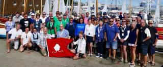 Centenary celebrations under way – the Treardur Bay Sailing Club crews at the National Yacht Club during VDLR19 in July