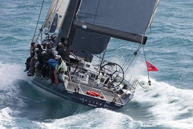 Let's hear it for Tasmania! The Hobart-registered Reichel Pugh 66 Alive (Philip Turner) has just recorded line honours and a new record in the Rolex RORC China Sea Race