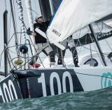 The team who will be racing onboard the Open 60 Artemis Ocean Racing are currently waiting for an optimum weather window