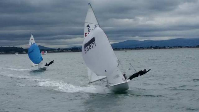 The GBR team of Alex Colquitt/Rebecca Coles show off their impressive speed at the Howth Championships