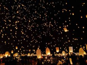 Sky lanterns look beautiful, but pose a risk to aviation - and a nuisance to emergency services