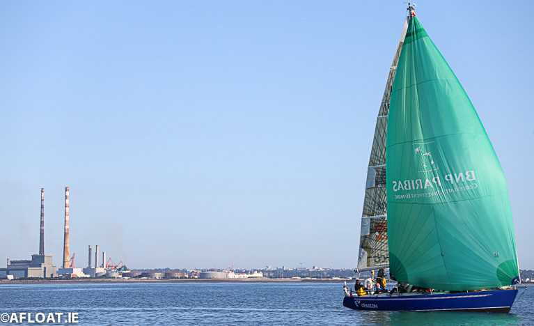 Royal Ulster IMX 38 Excession competing on Dublin Bay on Saturday